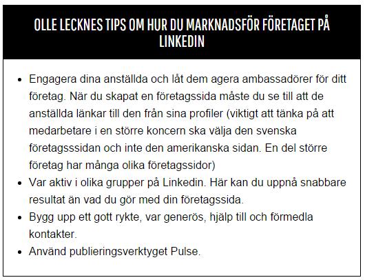 Så marknadsför du företaget på LinkedIn™