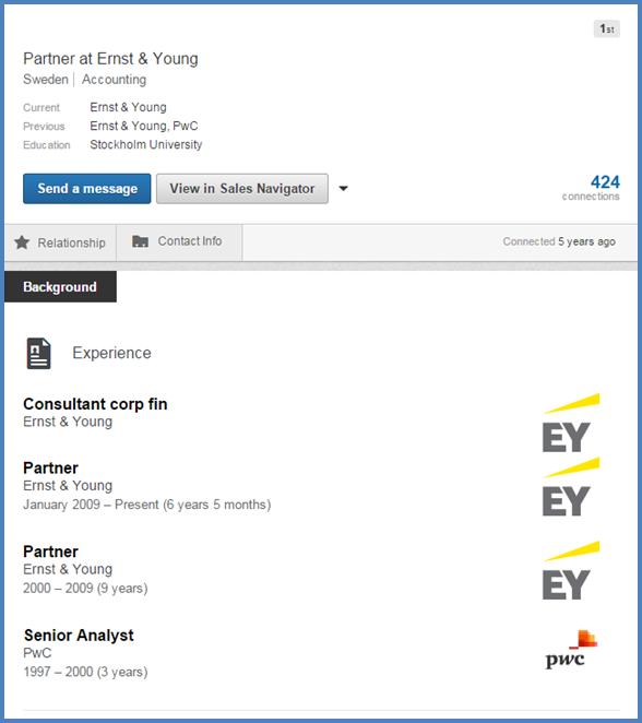 Bra Nätdejting Profil Linkedin