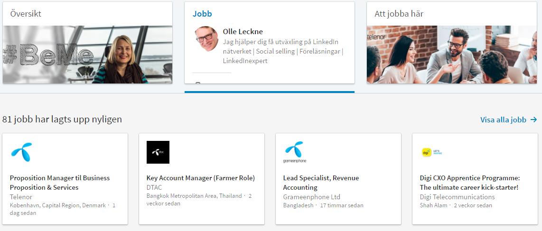 LinkedIn för rekrytering